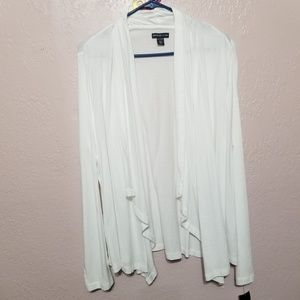 American Living White Open Cardigan, Long sleeve